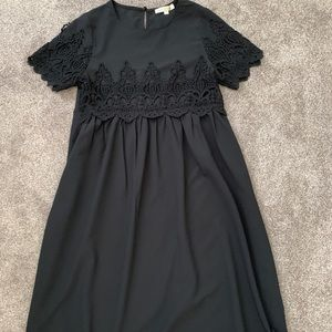 Down East black embroidered dress